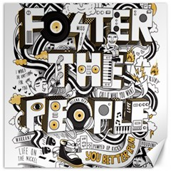 Foster The People Creative Typography Canvas 20  X 20