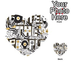Foster The People Creative Typography Playing Cards 54 (heart)