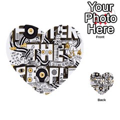 Foster The People Creative Typography Multi-purpose Cards (Heart)