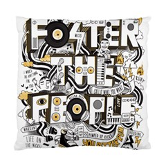 Foster The People Creative Typography Standard Cushion Case (one Side)
