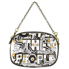 Foster The People Creative Typography Chain Purses (two Sides)