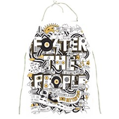 Foster The People Creative Typography Full Print Aprons
