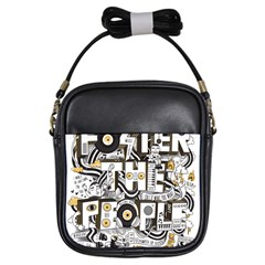 Foster The People Creative Typography Girls Sling Bags