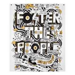 Foster The People Creative Typography Shower Curtain 60  X 72  (medium)