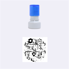 Foster The People Creative Typography Rubber Round Stamps (Small)