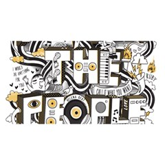 Foster The People Creative Typography YOU ARE INVITED 3D Greeting Card (8x4)
