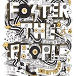 Foster The People Creative Typography #1 DAD 3D Greeting Card (8x4) Inside
