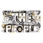 Foster The People Creative Typography #1 DAD 3D Greeting Card (8x4) Back