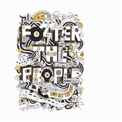 Foster The People Creative Typography Small Garden Flag (two Sides)