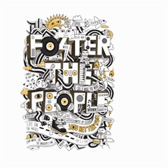 Foster The People Creative Typography Large Garden Flag (two Sides)