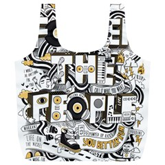 Foster The People Creative Typography Full Print Recycle Bags (l)