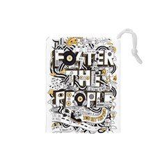 Foster The People Creative Typography Drawstring Pouches (small)