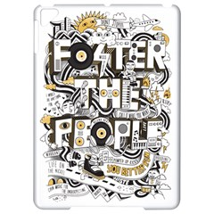Foster The People Creative Typography Apple iPad Pro 9.7   Hardshell Case