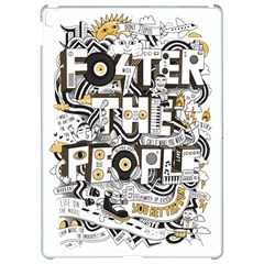 Foster The People Creative Typography Apple iPad Pro 12.9   Hardshell Case