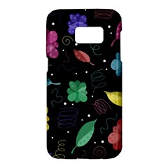 Colorful floral design Samsung Galaxy S7 Hardshell Case