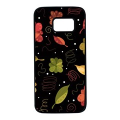 Autumn flowers  Samsung Galaxy S7 Black Seamless Case