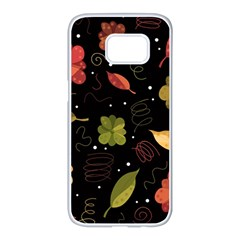 Autumn flowers  Samsung Galaxy S7 edge White Seamless Case