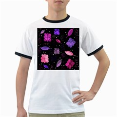 Purple and pink flowers  Ringer T-Shirts