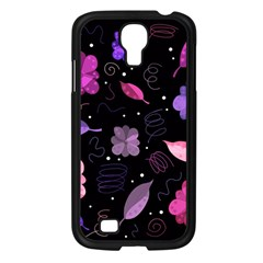 Purple And Pink Flowers  Samsung Galaxy S4 I9500/ I9505 Case (black)