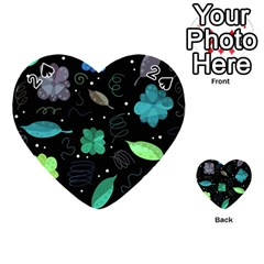 Blue and green flowers  Playing Cards 54 (Heart)