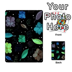 Blue and green flowers  Multi-purpose Cards (Rectangle)