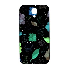 Blue And Green Flowers  Samsung Galaxy S4 I9500/i9505  Hardshell Back Case