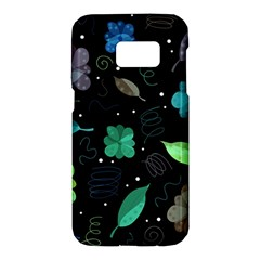 Blue and green flowers  Samsung Galaxy S7 Hardshell Case