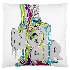 Hot Air Typography Large Cushion Case (one Side)