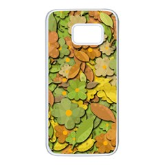 Autumn flowers Samsung Galaxy S7 White Seamless Case
