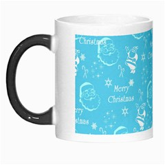 Santa Christmas Collage Blue Background Morph Mugs