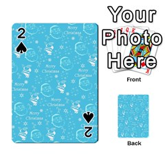 Santa Christmas Collage Blue Background Playing Cards 54 Designs