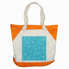 Santa Christmas Collage Blue Background Accent Tote Bag