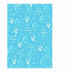 Santa Christmas Collage Blue Background Large Garden Flag (two Sides)
