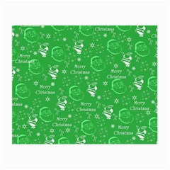 Santa Christmas Collage Green Background Small Glasses Cloth