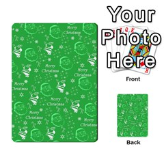 Santa Christmas Collage Green Background Multi-purpose Cards (Rectangle)