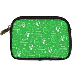 Santa Christmas Collage Green Background Digital Camera Cases