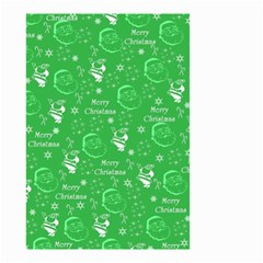 Santa Christmas Collage Green Background Small Garden Flag (two Sides)