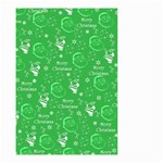 Santa Christmas Collage Green Background Small Garden Flag (Two Sides) Back