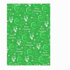 Santa Christmas Collage Green Background Large Garden Flag (two Sides)