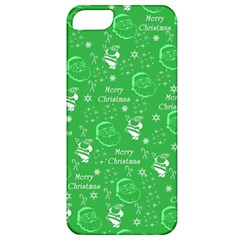 Santa Christmas Collage Green Background Apple Iphone 5 Classic Hardshell Case