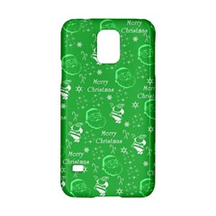 Santa Christmas Collage Green Background Samsung Galaxy S5 Hardshell Case