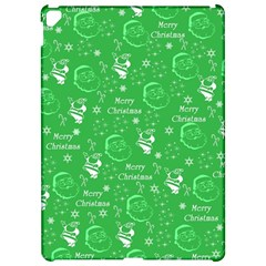 Santa Christmas Collage Green Background Apple iPad Pro 12.9   Hardshell Case