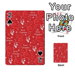 Santa Christmas Collage Playing Cards 54 Designs