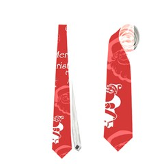 Santa Christmas Collage Neckties (one Side)