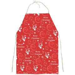 Santa Christmas Collage Full Print Aprons