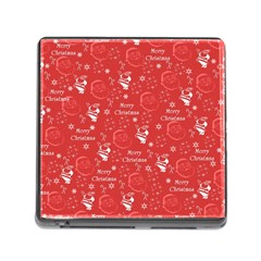 Santa Christmas Collage Memory Card Reader (square)