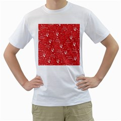 Santa Christmas Collage Men s T Shirt (white)