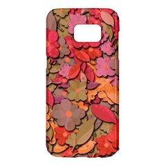 Beautiful floral design Samsung Galaxy S7 Edge Hardshell Case