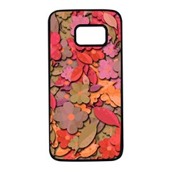 Beautiful floral design Samsung Galaxy S7 Black Seamless Case