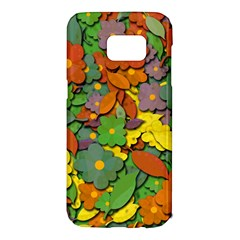 Decorative flowers Samsung Galaxy S7 Edge Hardshell Case